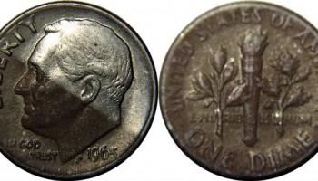 1965 silver dime tone